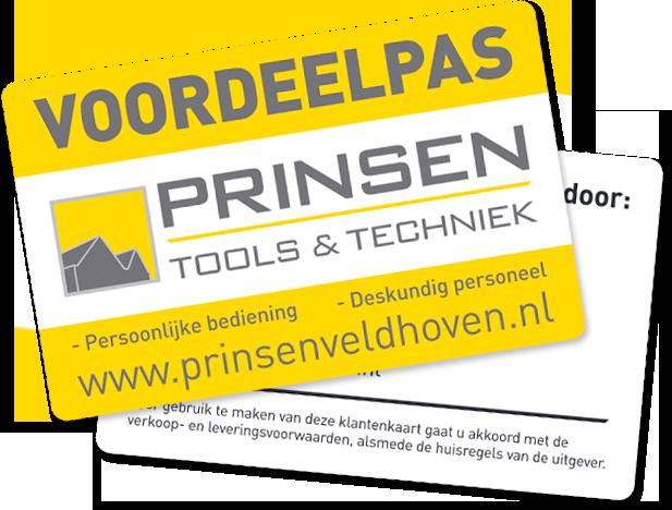 Prinsen Tools en Techniek Voordeelpas